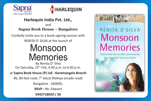 Monsoon memories  invite Emailer (For Sapna Book House))