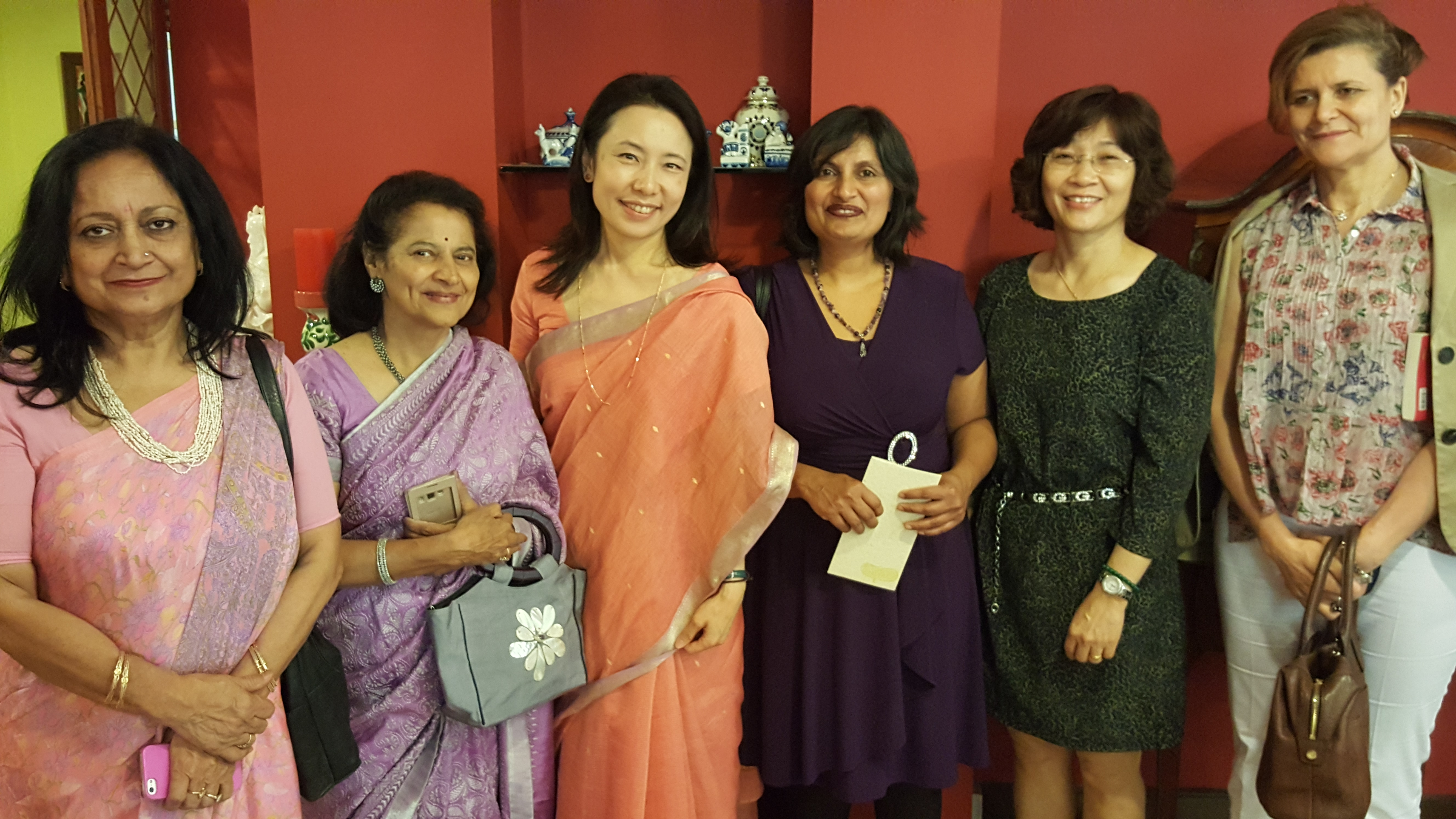 With Ms. Kyoko Jaishankar and members of EASA book club