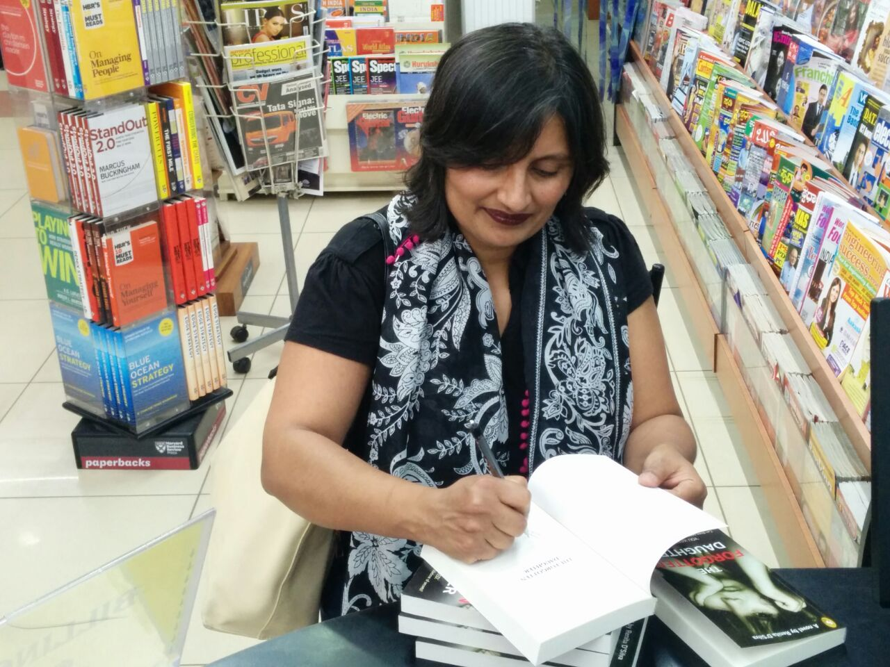 Book signing at Sapna, Bangalore